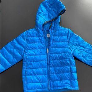 Gap boys lightweight puffer with hood size 4T